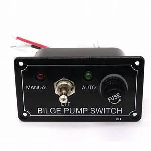 12v Led Indicator Bilge Pump Switch Panel Housing 3 Way