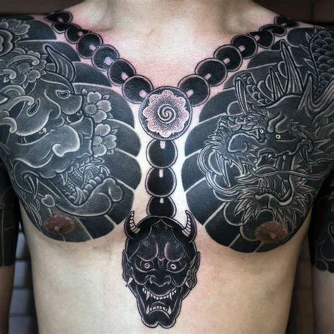 lotus plate 50 japanese chest tattoos for masculine design ideas