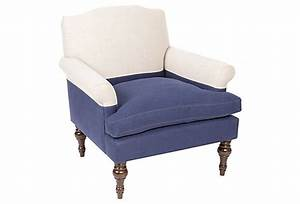 Eastwood Club Chair  Navy  Oatmeal  With Images