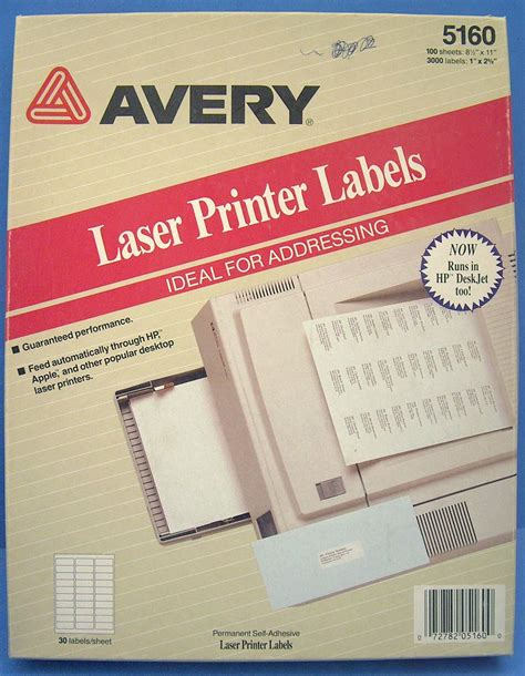 k447f genuine 56x30 1680 avery 5160 white address labels