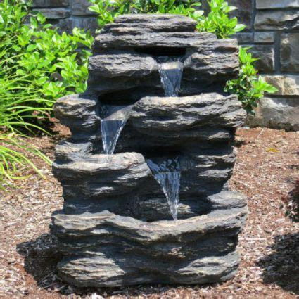 rock waterfall fountains outdoor feel the home