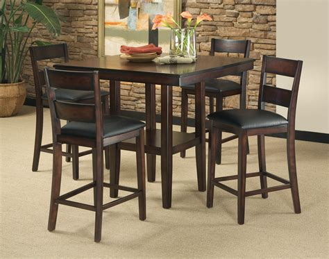 5 piece table set 5 piece contemporary pub height table barstool set