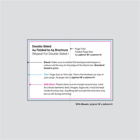 4 Sided Brochure Template by Print Sided A4 Folded To A5 Brochures