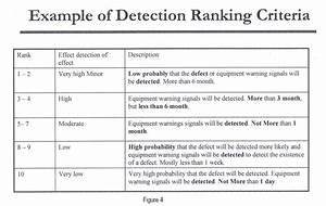 fmea detection ranking With software selection criteria template