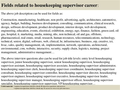 Housekeeping Coordinator Description by Top 10 Housekeeping Supervisor Questions And Answers