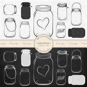 Chalkboard Mason Jar Clip Art