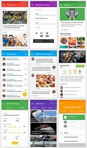 Vonn Material Design Mobile UI Kit Visual Hierarchy