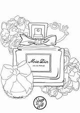 Coloring Perfume Pages Dior Miss Adult Coloriage Bottle Mademoiselle Stef Printable Adults Chanel Books Coco Zen Parfum Colouring Sheets Printables sketch template