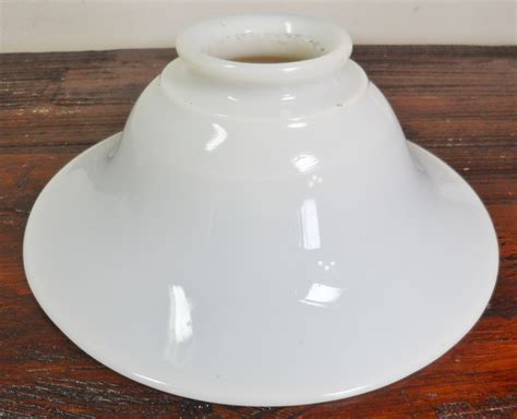 Antique Floor Lamp Glass Shade Globe Diffuser by Vintage Flared Milk Glass Torchier Floor Lamp Light Shade