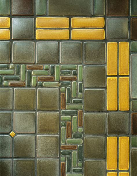 mission and tile detail of sunroom floor by motawi tileworks floors by