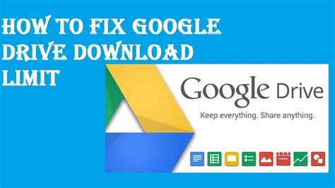 How To Fix Google Drive Download Limit Youtube