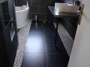 salle de bain carrelage noir With joint noir salle de bain