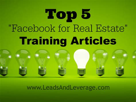 """Top 5 """"facebook For Real Estate"""" Training Articles"""