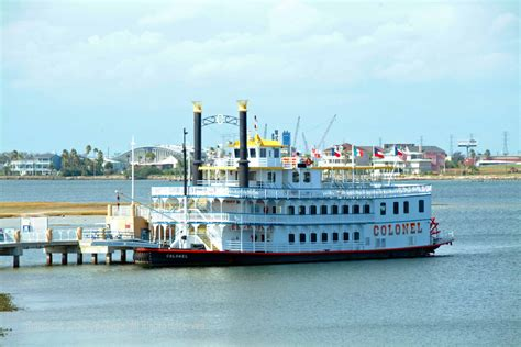 Galveston Party Boats Charters by Galveston Island Guide Colonel Paddlewheel Boat