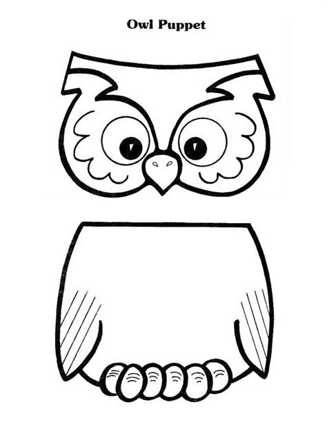paper bag puppet templates patties classroom owl activities and
