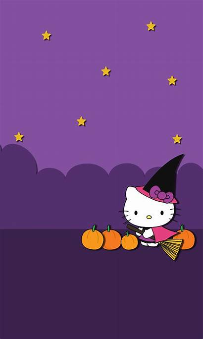 Kitty Hello Halloween Wallpapers Iphone Blueberrythemes Pantalla