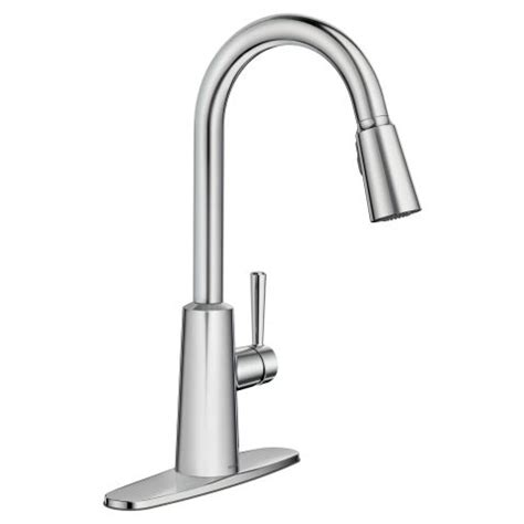 riley chrome high arc pulldown kitchen faucet kitchen