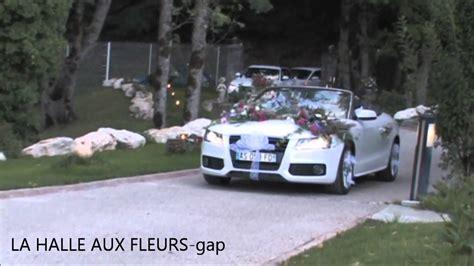 decoration mariage voiture fleurs d 233 coration de voiture mariage la halle aux fleurs gap floral design