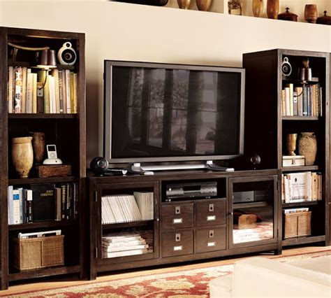 For Sale Pottery Barn Rhys Media Console & Towers $800