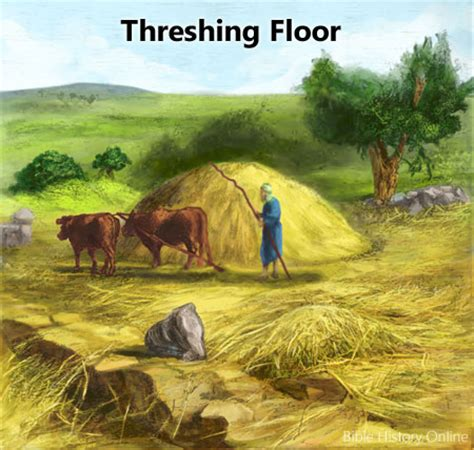 define biblical threshing floor i am coming soon we are redeemed by our