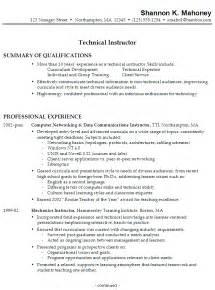 nursing cv template ireland resume technical instructor