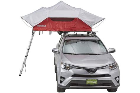 yakima skyrise car top tent  person roof rack accessory