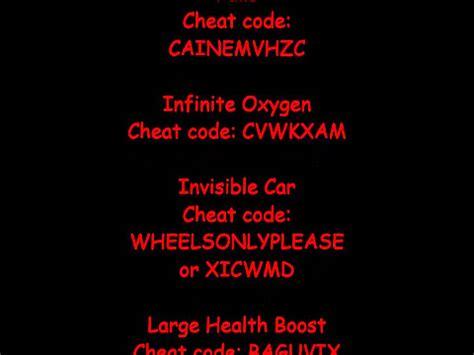 All Cheat Codes (pc & Mac)