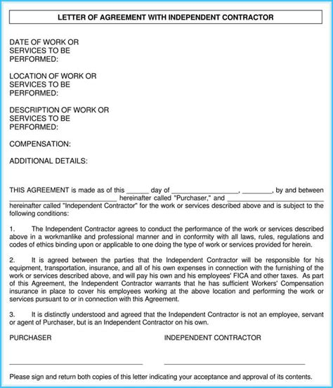 contractor appointment letter  sample letters  formats