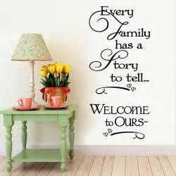 home interior pictures wall decor welcome to our home family quote wall decals decorative removable vinyl wall stickers home
