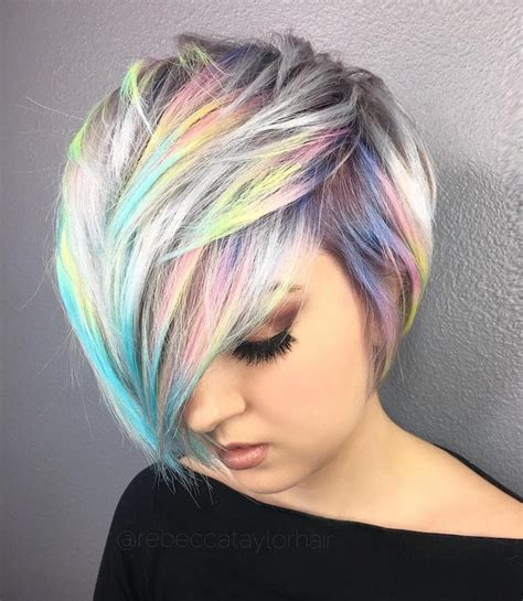 holographic hair trends adds metallic shine  ordinary locks