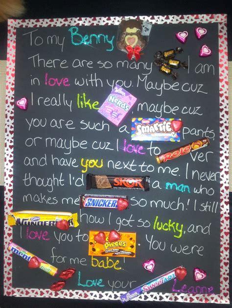 valentines candy love letter   black poster