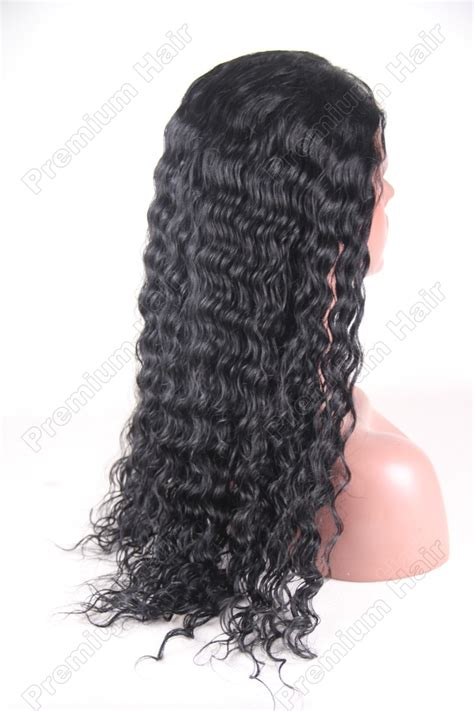 color  water wave indian remy hair full lace wig