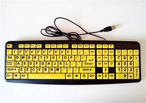 extra large print computer keyboard big letters bright With computer keyboard with large letters