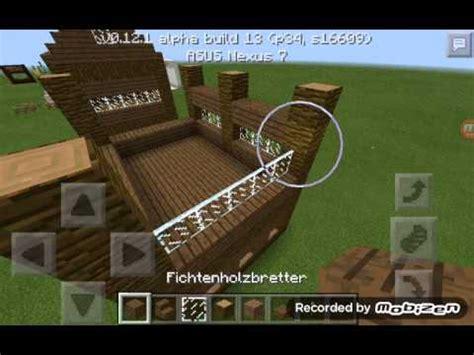 Minecraft Pe Wie Baut Man Ein Schönes Holzhaus Youtube
