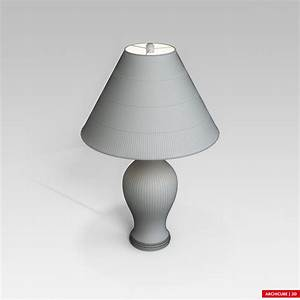 table lamp 3d model max obj fbx cgtradercom With table lamp 3d archive