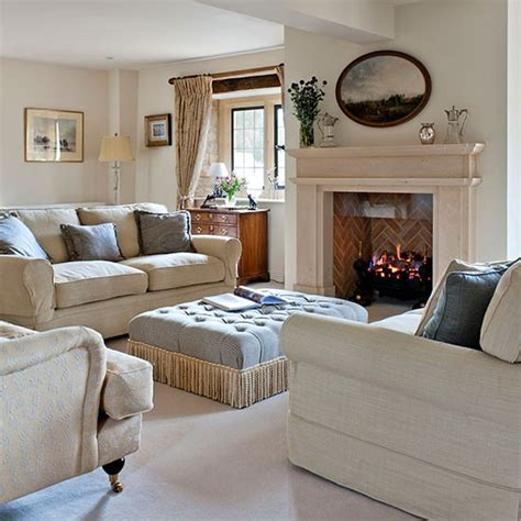 neutral living rooms classic neutral living room with ottoman centrepiece neutral living room ideas housetohome co uk