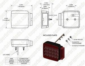 Square Led Trailer Light Kit  2 U201d Led Brake  Turn  Tail