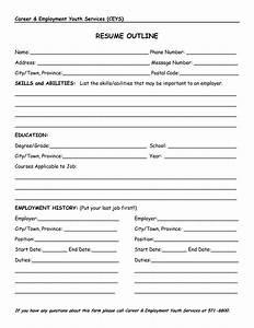 ressume template - resume outline resume cv