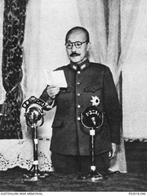 General Hideki Tojo, who became Prime Minister of Japan in