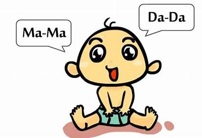 Babies Clipart Month Dada Word Say Babbling
