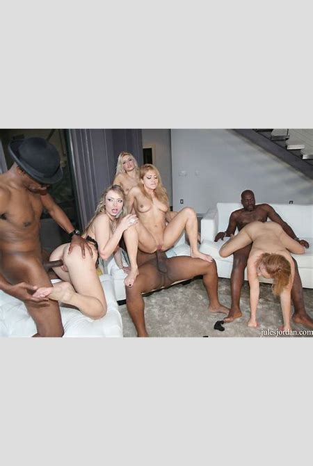 Big Booty Interracial Orgy Party Featuring Anikka Albrite