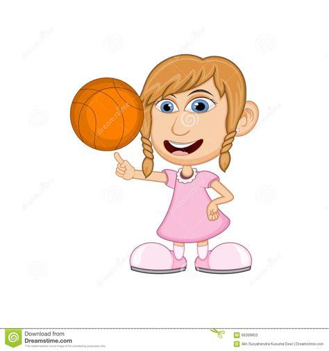 Image result for girl cartoon basketball