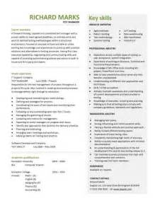 test manager resume template free cv templates resume exles free downloadable curriculum vitae key skills