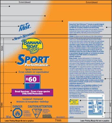 Banana Boat Sunscreen Oxybenzone by Banana Boat Sport Spf 60 Accra Pac Inc Octocrylene 0
