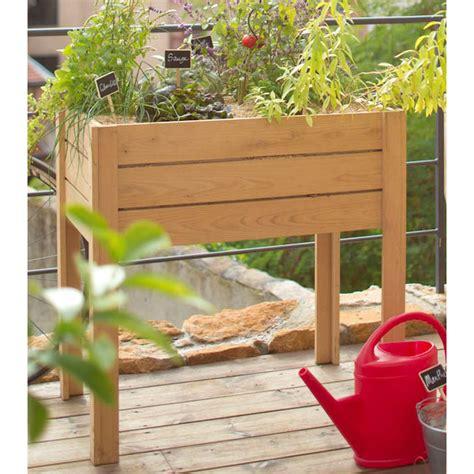 potager sur 233 lev 233 en bois de chataignier l 80 x l 50 x h 80 cm botanic