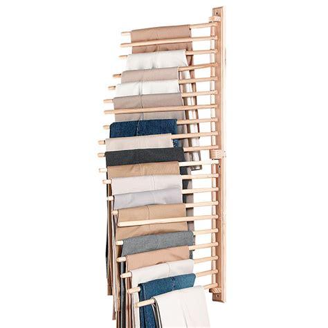 Wall Mount Trouser Pant Closet Organization Rack, By
