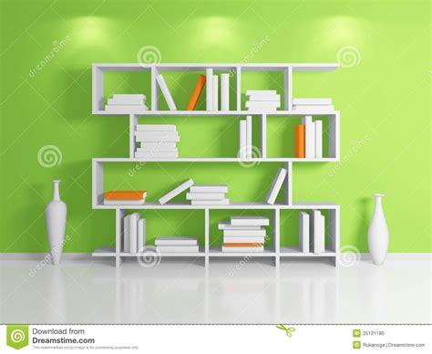 Modern Bookshelf Stock Illustration Image Of Clay