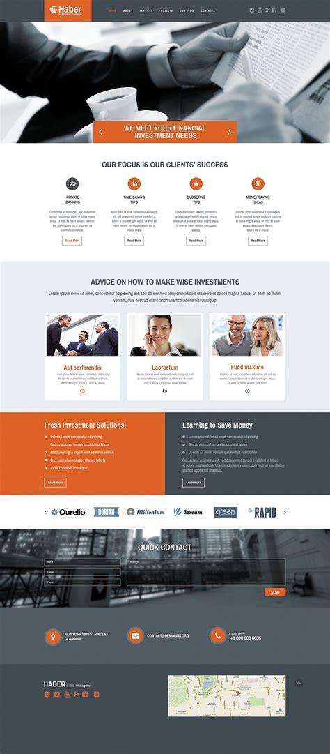 Bid Websites Investment Company Web Template
