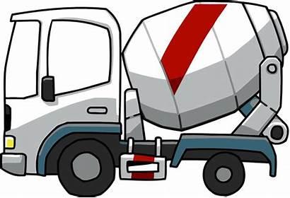 Mixer Concrete Scribblenauts Truck Cartoon Cement Clipart