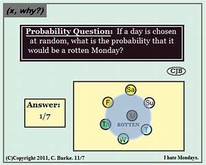 X  Why    Probability Question  Monday